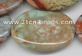 CNS97 15.5 inches 30*40mm oval natural serpentine jasper beads