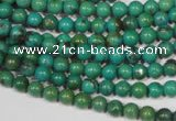 CNT204 15.5 inches 4.5mm round natural turquoise beads wholesale