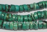 CNT221 15.5 inches 3*8mm – 5*10mm heishi natural turquoise beads