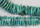 CNT228 15.5 inches 2*6mm - 5*22mm dish natural turquoise beads wholesale