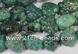 CNT247 15.5 inches 8*10mm - 13*18mm nuggets natural turquoise beads