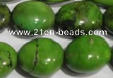 CNT256 15.5 inches 18*23mm nuggets natural turquoise beads wholesale