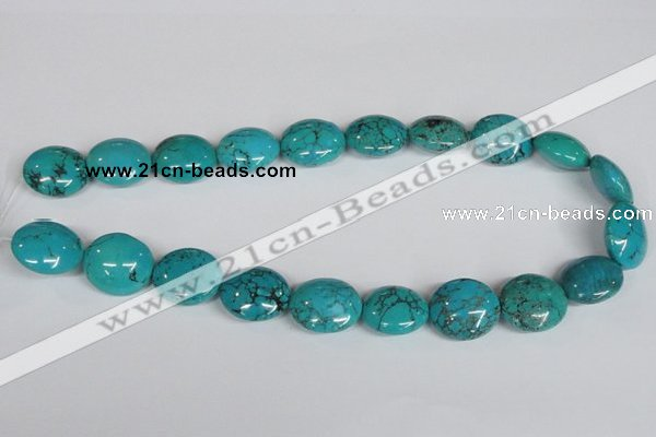 CNT36 16 inches 20*22mm oval natural turquoise beads wholesale