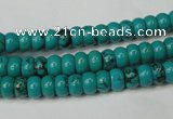 CNT360 15.5 inches 4*6mm rondelle turquoise beads wholesale
