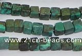 CNT400 15.5 inches 4*4mm cube turquoise beads wholesale