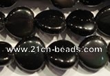 COB468 15.5 inches 12*12mm heart black obsidian beads wholesale