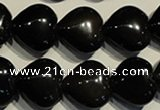 COB469 15.5 inches 14*14mm heart black obsidian beads wholesale