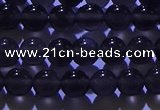 COB701 15.5 inches 6mm round ice black obsidian beads wholesale