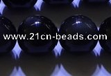 COB706 15.5 inches 16mm round ice black obsidian beads wholesale