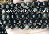 COB769 15.5 inches 12mm round golden obsidian beads wholesale