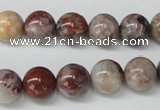 COJ204 15.5 inches 10mm round blood stone beads wholesale