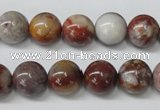 COJ205 15.5 inches 12mm round blood stone beads wholesale