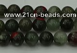 COJ451 15.5 inches 6mm round blood jasper beads wholesale