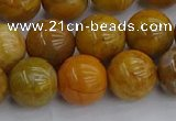 COJ603 15.5 inches 10mm round orpiment jasper beads wholesale
