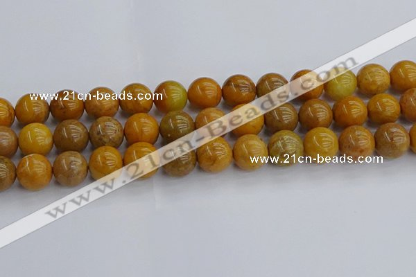 COJ604 15.5 inches 12mm round orpiment jasper beads wholesale