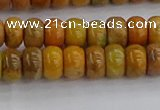 COJ611 15.5 inches 4*6mm rondelle orpiment jasper beads