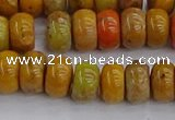 COJ612 15.5 inches 5*8mm rondelle orpiment jasper beads