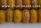 COJ614 15.5 inches 6*12mm rondelle orpiment jasper beads