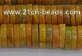 COJ623 15.5 inches 3*12mm heishi orpiment jasper beads