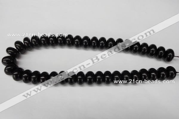 CON24 15.5 inches 10*16mm rondelle black onyx gemstone beads