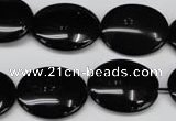CON34 15.5 inches 17*22mm oval black onyx gemstone beads