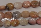 COP1021 15.5 inches 8*10mm oval natural pink opal gemstone beads