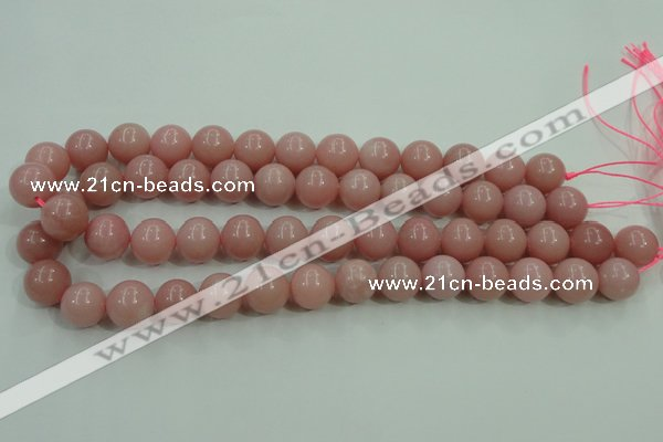 COP1215 15.5 inches 14mm round Chinese pink opal gemstone beads