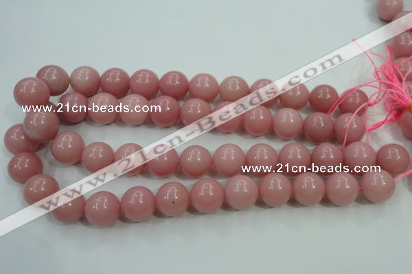 COP1216 15.5 inches 16mm round Chinese pink opal gemstone beads