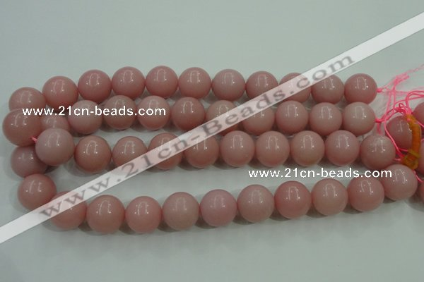 COP1217 15.5 inches 18mm round Chinese pink opal gemstone beads
