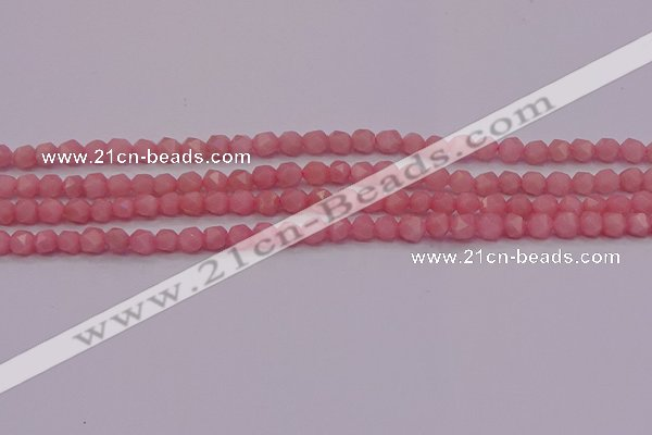COP1221 15.5 inches 6mm faceted nuggets Chinese pink opal beads