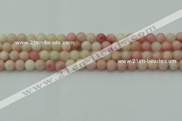 COP1226 15.5 inches 6mm round Chinese pink opal beads wholesale