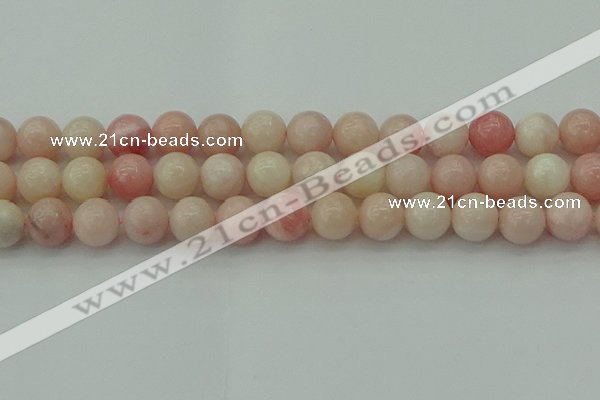 COP1228 15.5 inches 10mm round Chinese pink opal beads wholesale