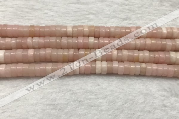 COP1233 15.5 inches 3*6mm heishi Chinese pink opal beads