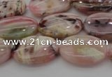 COP1273 15.5 inches 10*14mm oval natural pink opal gemstone beads
