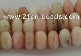 COP1286 15.5 inches 4*6mm rondelle natural pink opal beads