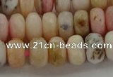 COP1323 15.5 inches 6*10mm faceted rondelle natural pink opal beads