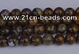 COP1370 15.5 inches 4mm round fire lace opal beads wholesale