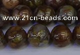 COP1375 15.5 inches 14mm round fire lace opal beads wholesale