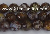 COP1388 15.5 inches 8mm faceted round fire lace opal beads