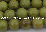 COP1403 15.5 inches 10mm round yellow opal gemstone beads