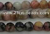 COP1412 15.5 inches 8mm faceted round natural pink opal gemstone beads