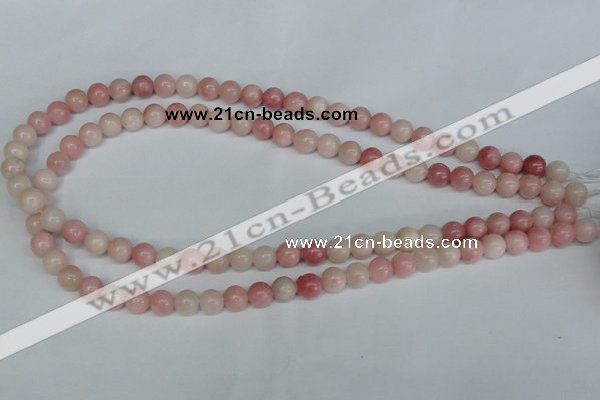 COP152 15.5 inches 8mm round pink opal gemstone beads wholesale