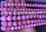 COP1530 15.5 inches 4mm - 14mm round natural pink opal gemstone beads