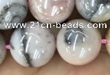 COP1544 15.5 inches 12mm round AB-color natural pink opal beads
