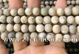 COP1563 15.5 inches 10mm round matte African opal beads