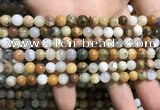 COP1566 15.5 inches 4mm round yellow moss opal beads wholesale