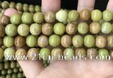 COP1575 15.5 inches 10mm round Australia olive green opal beads