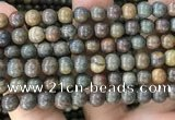 COP1581 15.5 inches 10mm round Australia brown green opal beads