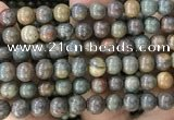 COP1582 15.5 inches 12mm round Australia brown green opal beads