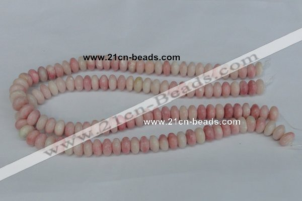 COP160 15.5 inches 6*12mm rondelle pink opal gemstone beads wholesale